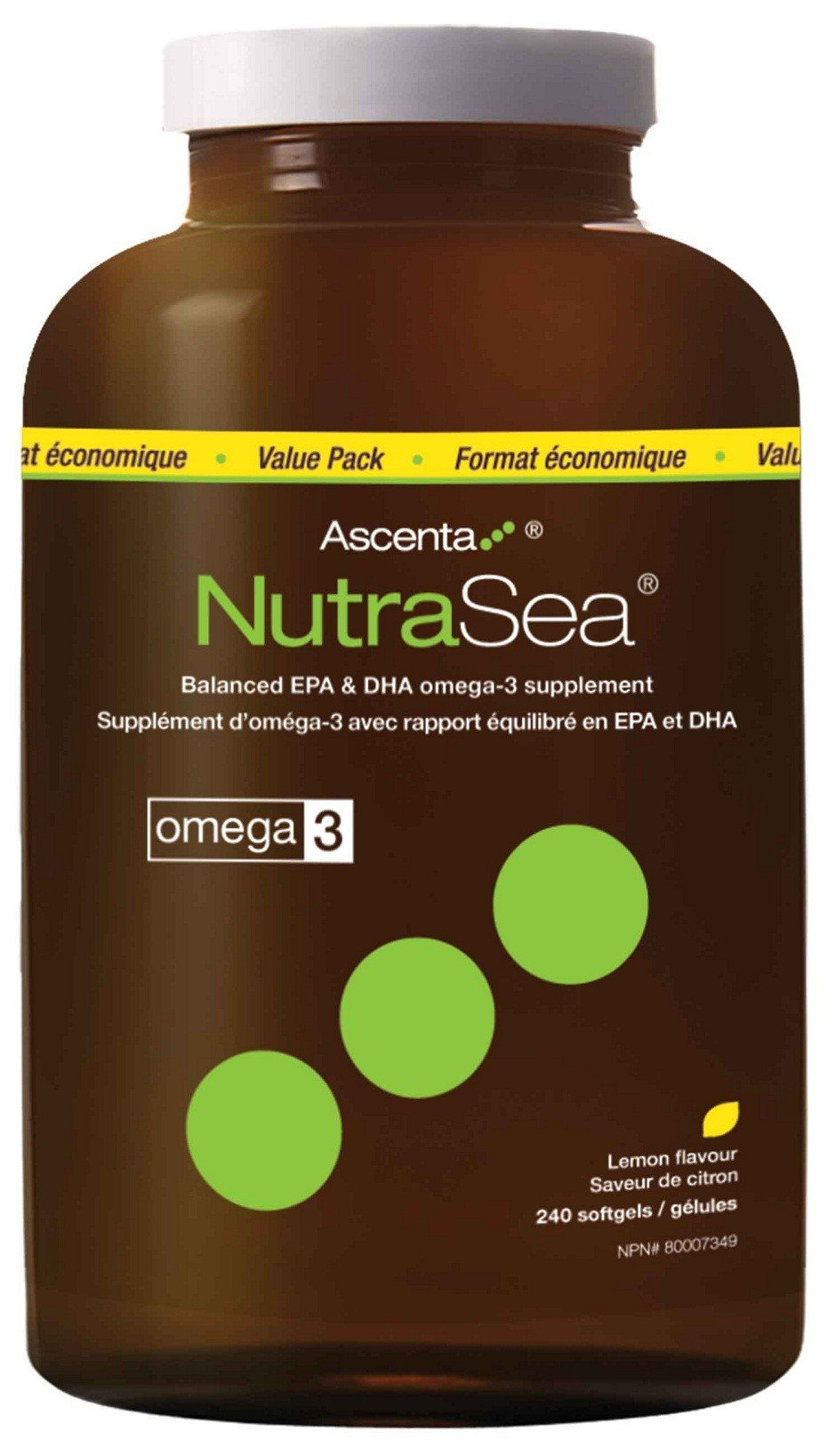 AscentaNutrasea Omega-3 Fish Oil Capsules Provide Essential Levels Of EPA And DHA