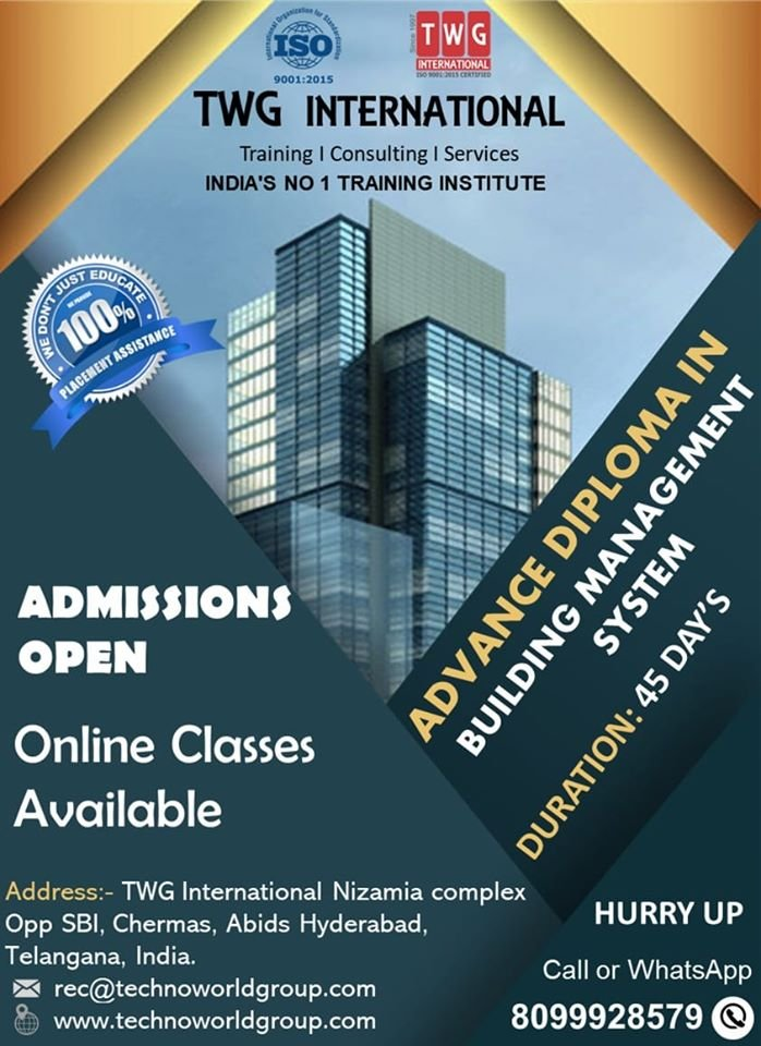 Building Management System Course, Variable Air Volume (VAV), BACnet, LonWorks, Modbus, Profibus, Canbus, PLC, SCADA, HVAC, Fire Alarm System Training