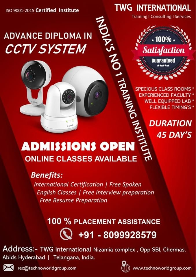 CCTV Training Institute In Hyderabad | CCTV Course In Hyderabad | CCTV Installation Training Institute