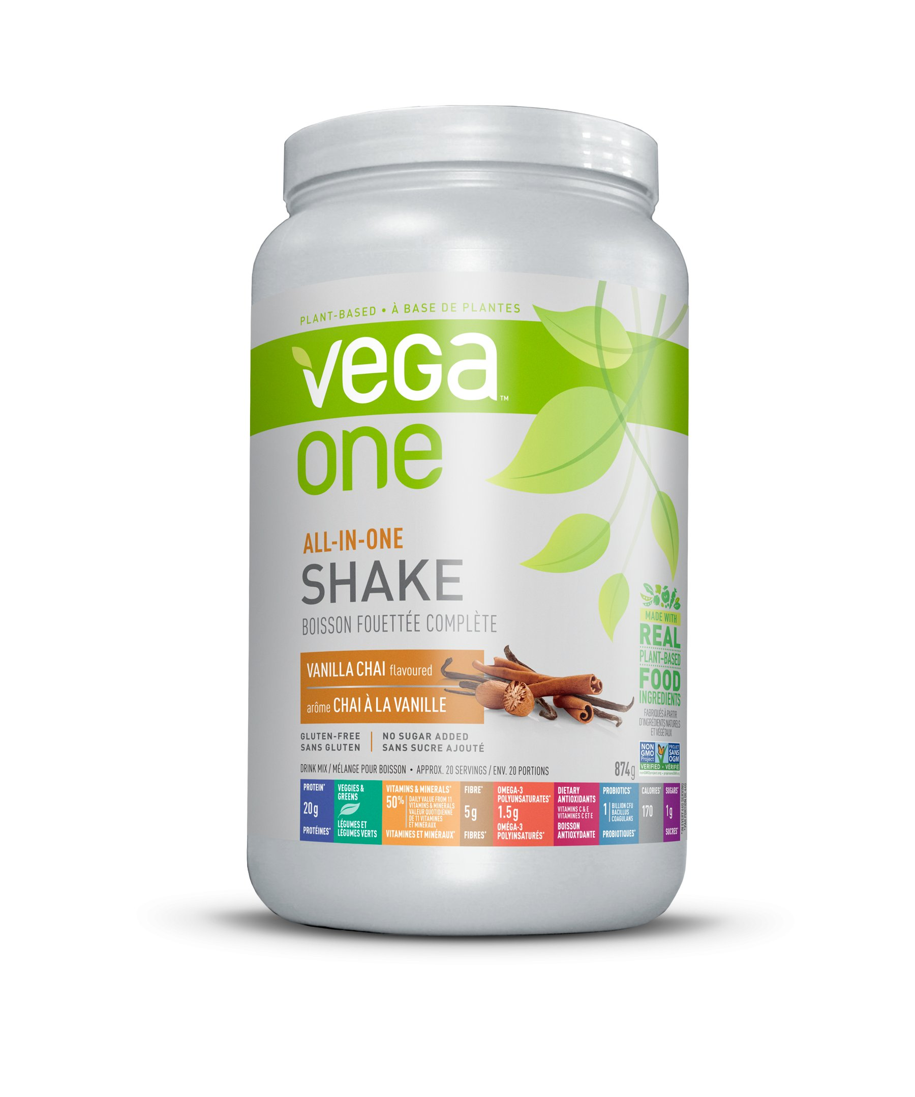 Increase Your Plant Protein Consumption With Vega One All In One Nutritional Shake Vanilla Chai