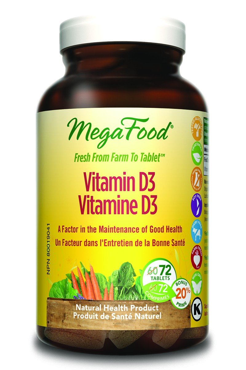 Megafood Vitamin D3 1000 IU: Promotes Optimum Health And Well-Being, Supports Healthy Immune Function, Helps Build And Maintain Strong Bones